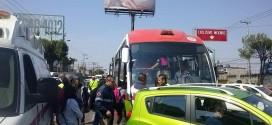 INICIAN LOS ACCIDENTES DEL MEXIBUS EN LA VÍA LÓPEZ PORTILLO.