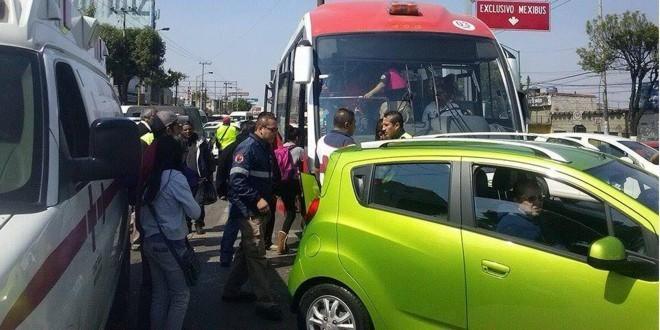 COMIENZAN LOS ACCIDENTES EN EL MEXIBUS